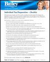 Bailey & Company Tax Preparation Checklist